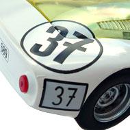 Porsche 906 - Détails de la décoration arrière