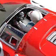 Ferrari 330 P4 - Détails du poste de pilotage