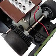 Chaparral 2F - Le moteur transversal et l'éclairage arrière