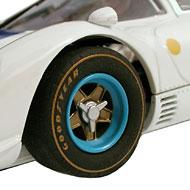 Ferrari 412P - Détails des roues avant