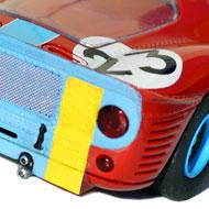 Ferrari 412P - Détails de le face arrière