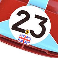 Ferrari 412P - Détails de la décoration avant