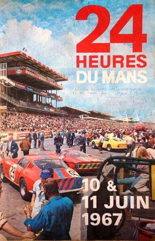 L'affiche des 24 heures du mans 1967