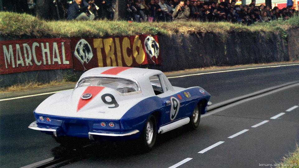 24 heures du Mans 1967 - Chevrolet Corvette Stingray - Bob Bondurant / Dick Guldstrand - Abandon