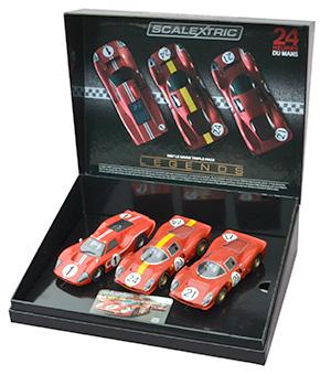 Scalextric C3892A Legends 1967 Le Mans Triple Pack