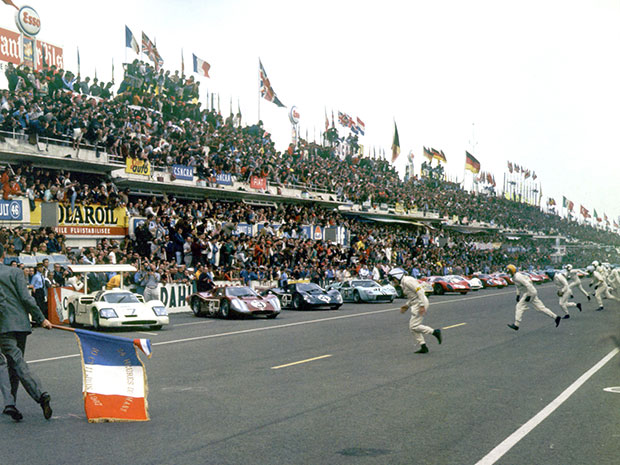 Le départ des 24 heures du Mans 1967
