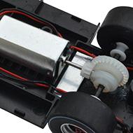 Ford MkIV Scalextric - Détails du moteur et de la transmission