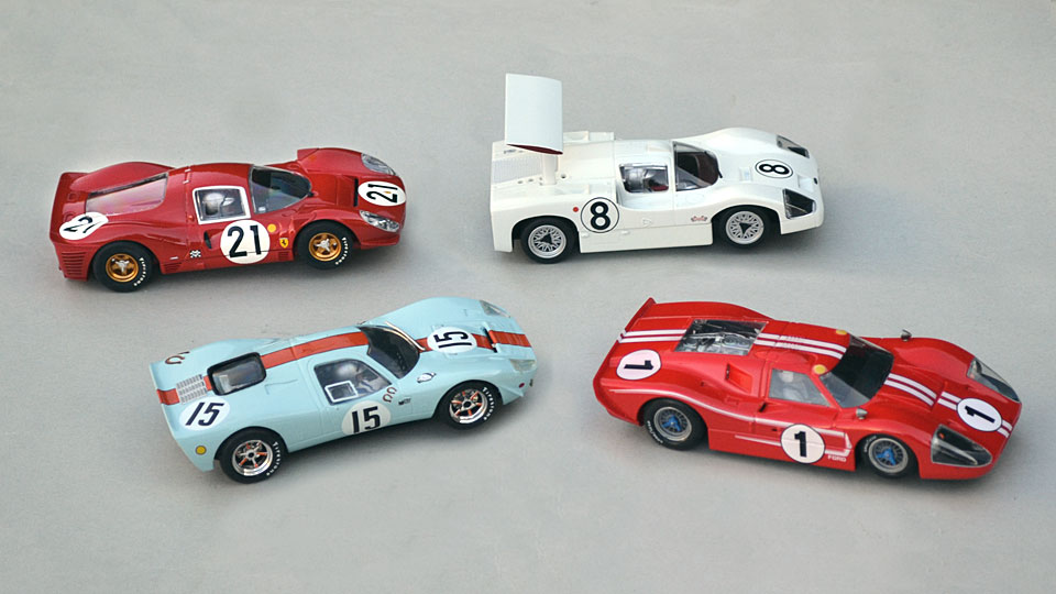 Mirage Scalextric, Ferrari P4 Scalextric, Chaparral 2F Scalextric, Ford MkIV NSR