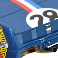 Alpine A220 Le Mans Miniatures - Détails du panneau arrière