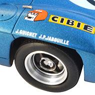 Alpine A220 Le Mans Miniatures - Détails de la décoration
