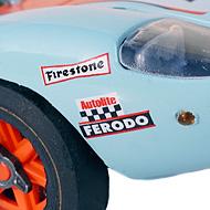 Ford GT40 Fly - Détails des roues et de la décoration à l'avant