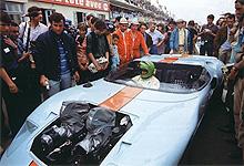 GT40 1074 sur le tourange du film 'Le Mans'