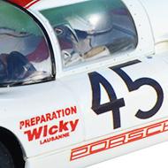 Porsche 910 - Détails de la décoration