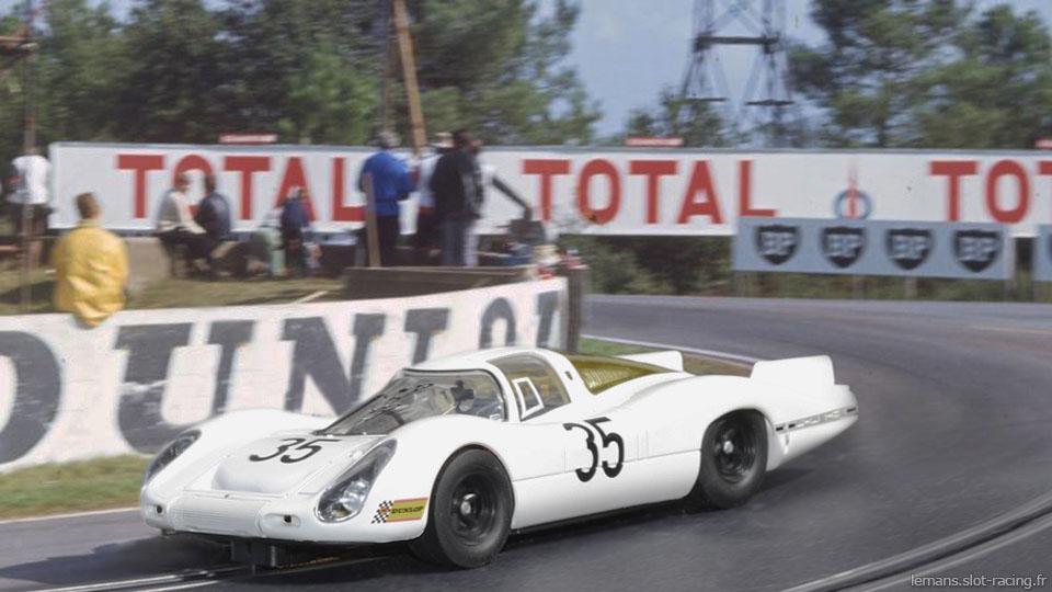 24 heures du Mans 1968 - Porsche 907 #35- Pilotes : Alex Soler-Roig / Rudi Lins - Abandon