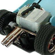 Ford GT40 Scalextric - Le moteur transversal