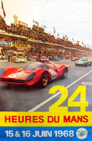 L'affiche des 24 heures du mans 1968