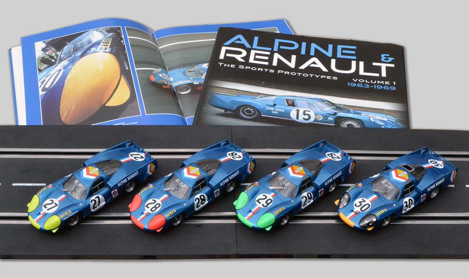 Les quatre Alpine A220 des 24 heures du Mans 1968 par Le Mans Miniatures