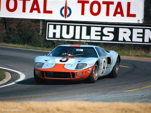 24 heures du Mans 1968 - Ford GT40 #9 - Pilotes : Pedro Rodriguez / Lucien Bianchi- 1er