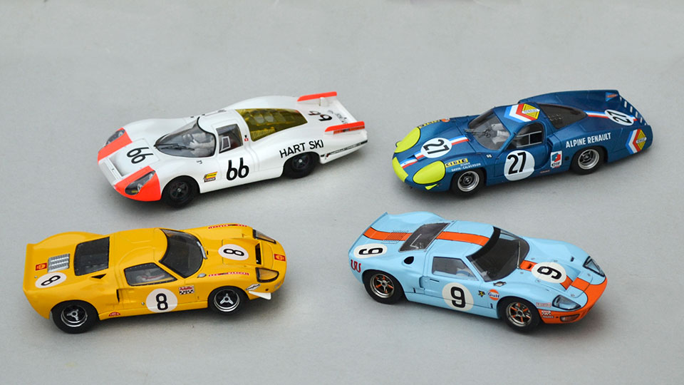 Ford GT40 Fly, Porsche 907L SRC, Alpine A220 Le Mans Miniatures, Ford GT40 Scalextric