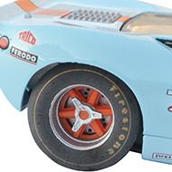 Ford GT40 Fly - Détails des roues, des papillons et des disques de frein ventilés