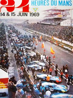 L'affiche des 24 heures du mans 1969