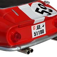 Ferrari 275GTB Ocar - Détails de la face arrière