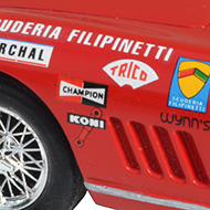 Ferrari 275GTB Ocar -Détails de la décoration