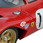 Ferrari 312P TKP TK8 - Détails de la décoration