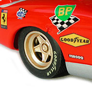 Ferrari 512S FLY C29 - Détails des roues