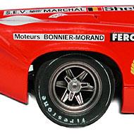 Lola T70 FLY C34 - Détails des roues