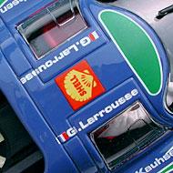 Porsche 917L Fly Team 012 - Détails de la décoration du toit