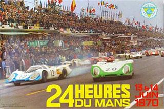L'affiche des 24 heures du mans 1970