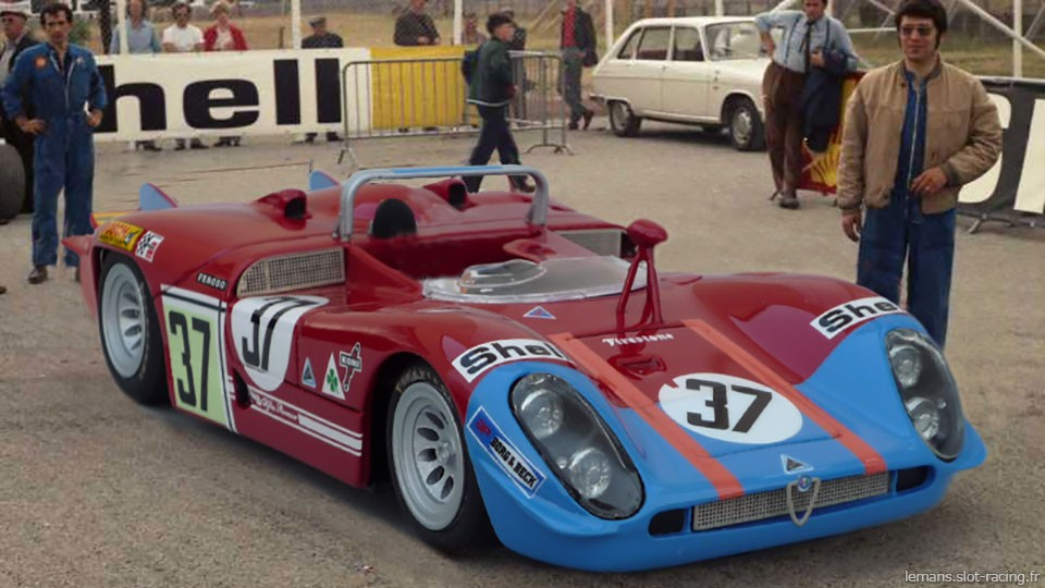 24 heures du Mans 1970 - Alfa-Roméo T33/3 #37- Pilotes : Toine Hezemans / Masten Gregory - Abandon