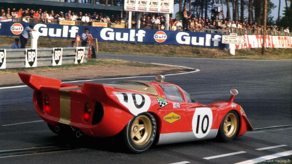 24 heures du Mans 1970 - Ferrari 512S #10- Pilotes : Helmut Kelleners / Georg Loos - Abandon