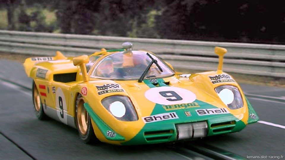 24 heures du Mans 1970 - Ferrari 512S #9- Pilotes : J-M Juncadella / J-M Fernandez - Abandon
