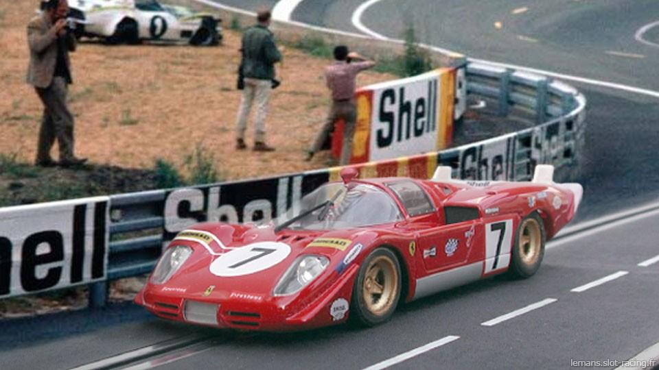 24 heures du Mans 1970 - Ferrari 512S #7- Pilotes : Derek Bell / Ronnie Peterson - Abandon