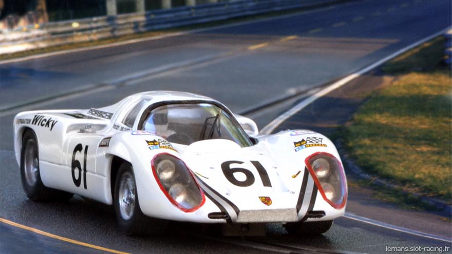 24 heures du Mans 1970 - Porsche 907 #61 - Pilotes : Andre Wicky / Jean-Pierre Hanrioud - Abandon