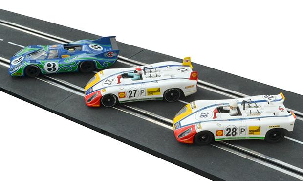 Les trois voitures du Martini International Racing Team aux 24 heures du Mans 1970