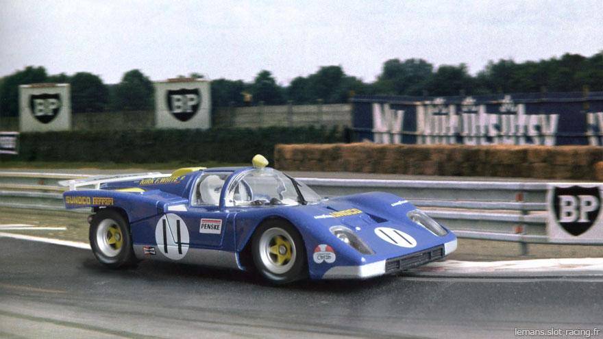24 heures du Mans 1971 - Ferrari 512M #11 - Pilotes : Mark Donohue / David Hobbs - Abandon