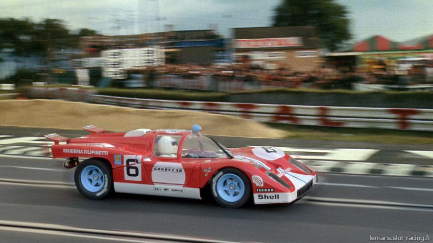 24 heures du Mans 1971 - Ferrari 512M #6 - Pilotes : Corrado Manfredini /Giancarlo Gagliardi - Abandon