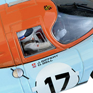 Porsche 917 Fly C88224 - Détails de la décoration et du pilote