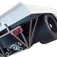 Porsche 917K Fly C86 - Détails des feux arrière et de la roue de secours