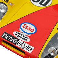 Porsche 908/02 Fly C44 - Détails de la décoration avant