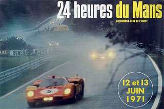 L'affiche des 24 heures du mans 1971