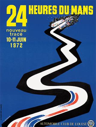 L'affiche des 24 heures du mans 1972