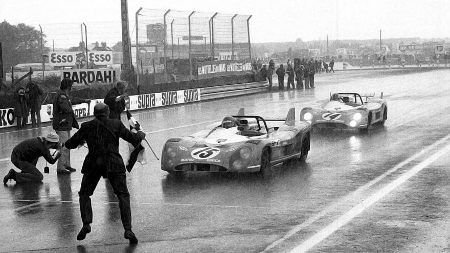 L'arrivée des 24 heures du Mans 1972