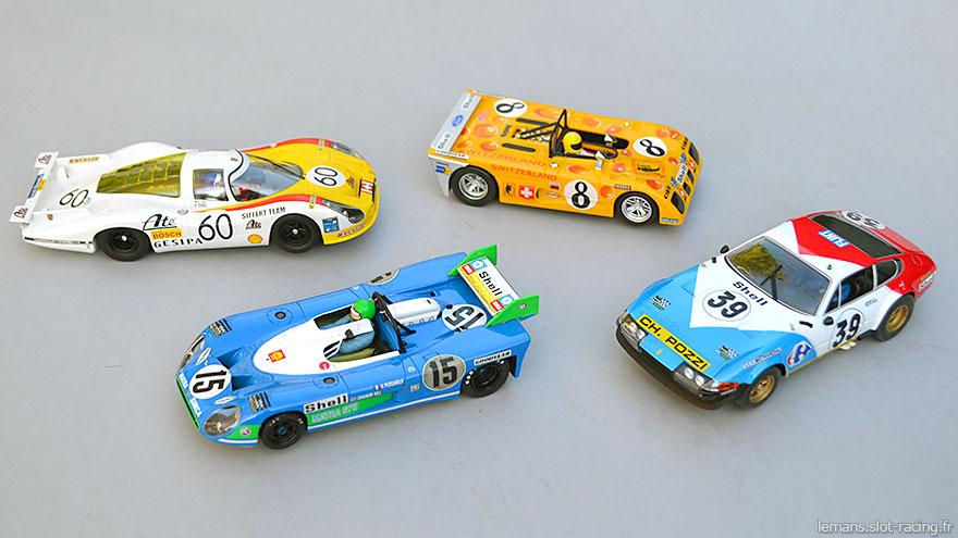Matra 670 Le Mans Miniatures, Porsche 908 SRC, Lola T280 Sloter, Ferrari 365 GTB/4 Fly