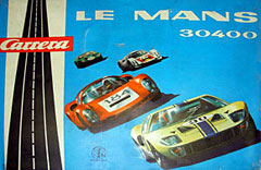 Carrera - boîte du coffret n° 30400 reproduisant les voitures célèbres des 24 heures du Mans.