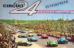 Circuit 24 - boîte du coffret n° 31 illustrée par le départ des 24 heures du Mans 1959.