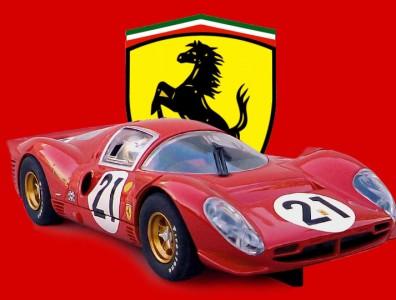 24 heures du Mans 1967 - Ferrari 330 P4 - Scalextric